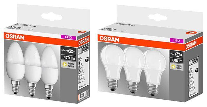 3er Pack Osram LED Leuchtmittel für 9,99€ (statt 15€)