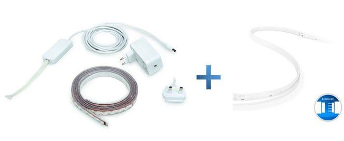 Philips Hue Light Strip+ 2m + 1m Erweiterung für 59,99€ (statt 79€)