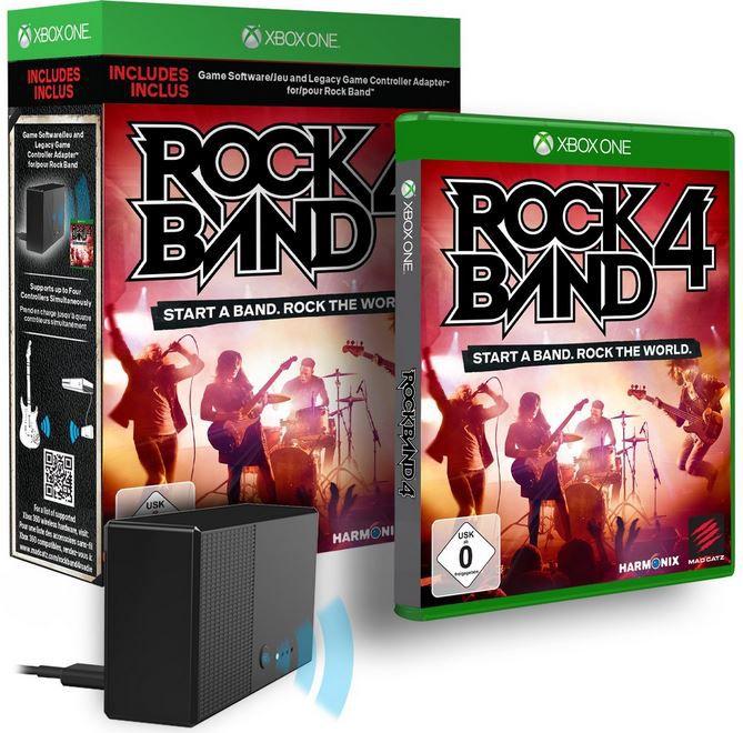 Rock Band 4 inkl. Adapter   [Xbox One] statt 65€ für 39,99€