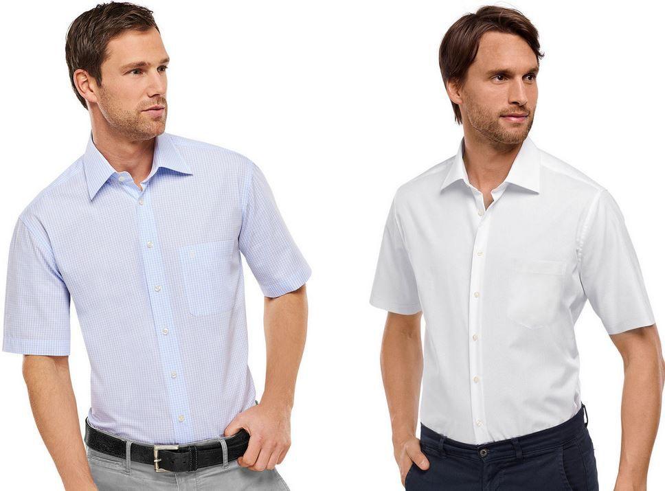 Schiesser Herren kurzarm Hemd regular Fit für 20,95€