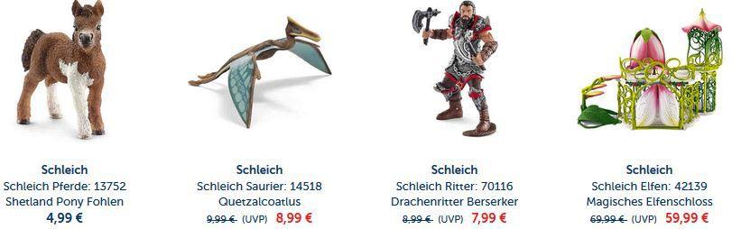 Schleich Angebot Schleich Spielzeug Figuren mit 15% Rabatt (MBW 39€)