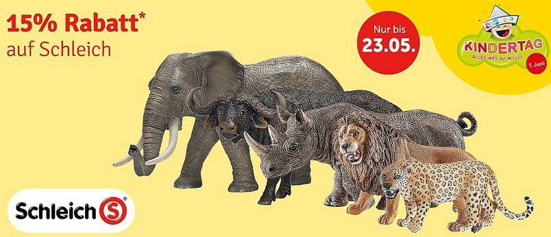 Schleich Rabatt Sale Schleich Spielzeug Figuren mit 15% Rabatt (MBW 29€) + 5€ Gutschein