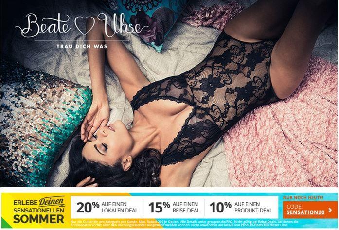 Sensation 20 50€ Beate Uhse Wertgutschein für 15,96€   gilt auch im Sale!