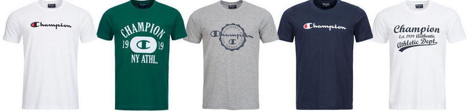 Shirt sale CHAMPION Herren T Shirt bis L für je 12,99€