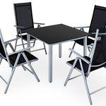 4+1 Alu Sitzgruppe für 152,96€(statt 183€)