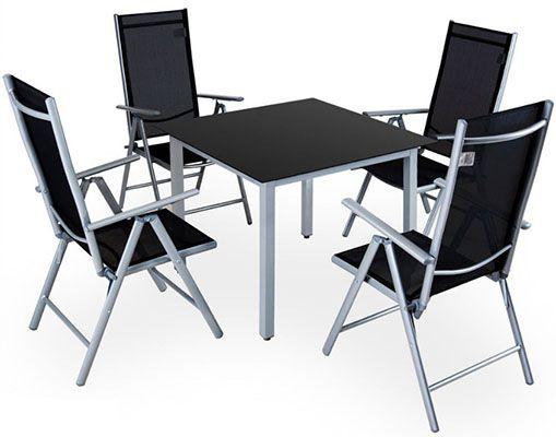 4+1 Alu Sitzgruppe für 131,71€(statt 183€)