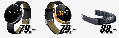 Smart watch Pfingstkracher bei Media Markt mit günstigen Smartphones und Wearables