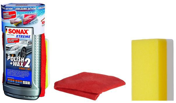 Sonax XTREME Polish & Wax 2 + Schwamm + Mikrofasertuch für nur 11,99€ (statt 15€)
