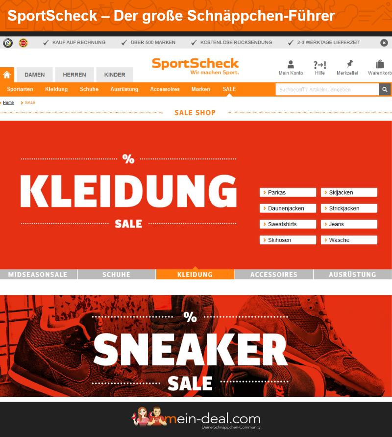 25% Rabatt auf 28 Marken bei Sportscheck auch auf Sale