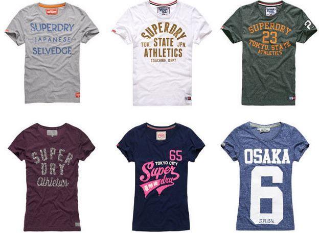 Super Dry Damen Shirts Superdry Damen und Herren T Shirts   46 Modelle für je 13,95€