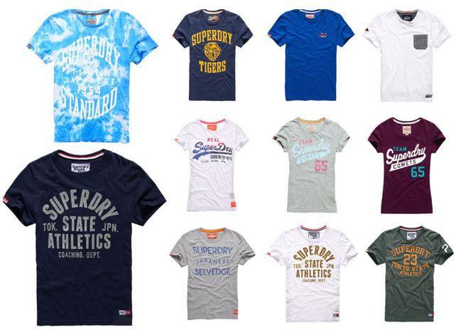 Superdry eBay Wow Superdry Damen und Herren T Shirts   46 Modelle für je 13,95€