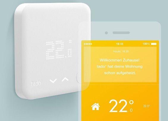 Tado Smart Tado Smart Thermostat Starter Kit für 135€ (statt 183€)