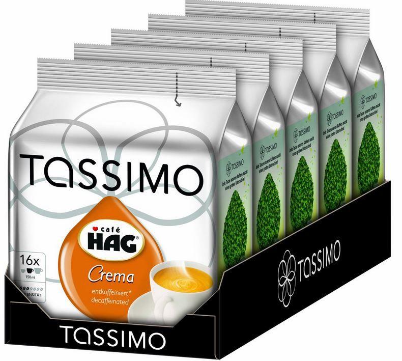 Tassimo Café HAG Crema 80 entkoffeinierte Kapseln ab nur 12,42€
