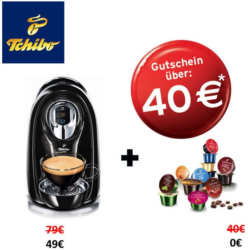 Tchibo Cafissimo Compact + 40€ Kapsel Gutschein für 49€