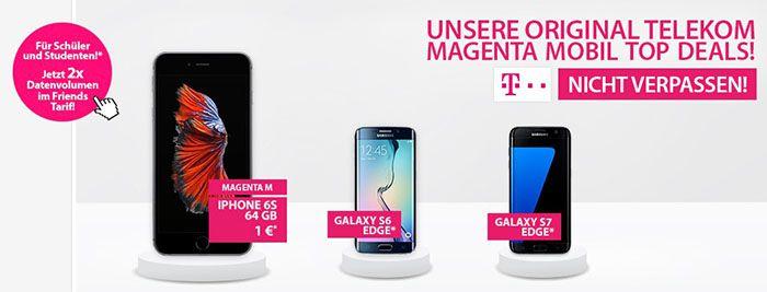 Telekom Magenta Mobil Tarife + Top Smartphone ab 45€ mtl.