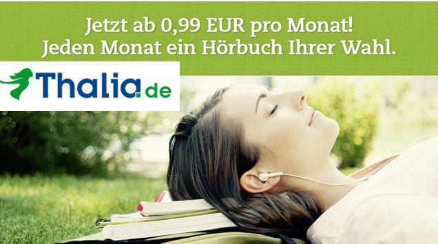 Thalia   3 Hörbücher für je 0,99€