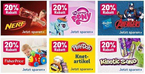 Toys R Us 20% ToysRUs Aktionen   z.B. auf Nerf Artikel