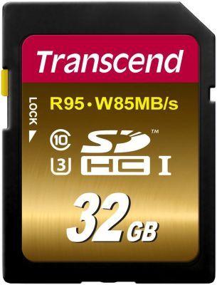 32GB Transcend SDHC UHS I U3 Extreme (R: 95MB/s, W: 85MB/s) für nur 19,49€