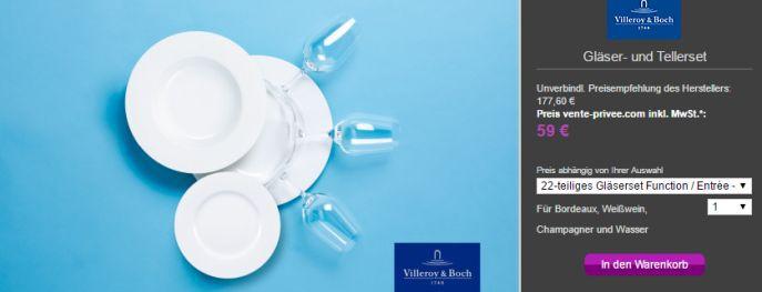 Villeroy Boch Gläser Teller Günstige Villeroy & Boch Angebote bei vente privee   z.B. 30 tlg. Besteckset One für 119€ (statt 183€)