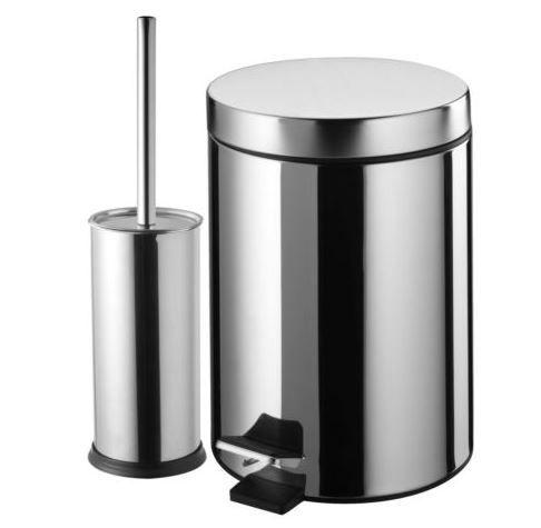 WC Set Treteimer u. Bürstengarnitur Edelstahl für nur 13,49€