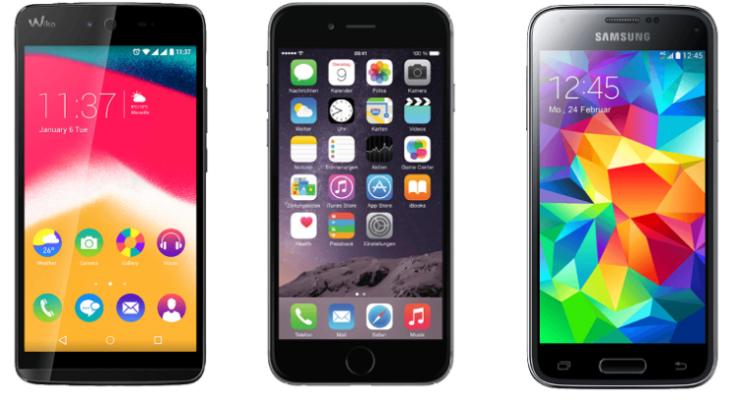 WIKO Rainbow Jam 8 GB Schwarz Dual SIM e1488106997873 Media Markt mit günstigen Smartphones und Wearables   z.B. iPhone 6 16 GB für 429€ (statt 470€)