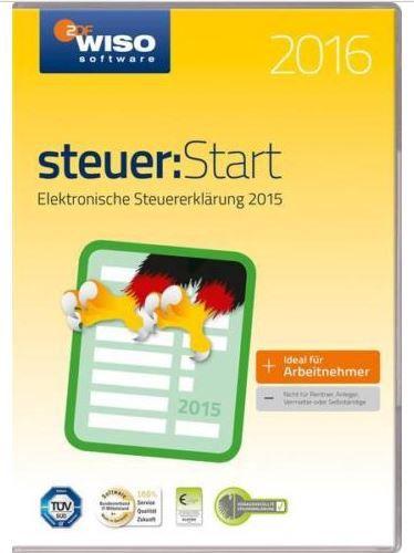 WISO Steuer Start 2016 (CD ROM) für das Steuerjahr 2015 für 7,99€