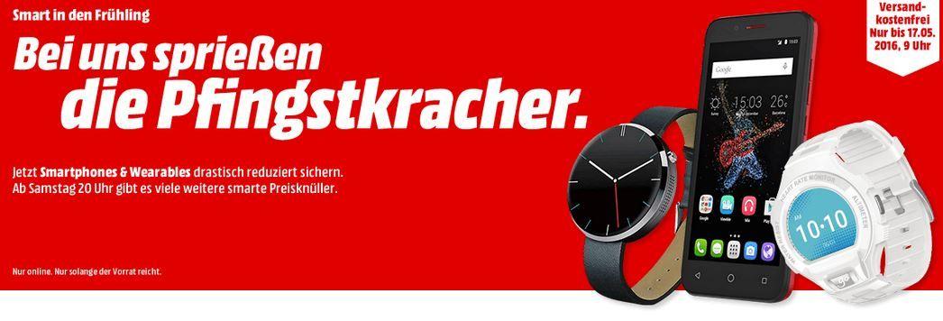 Wearables Pfingstkracher bei Media Markt mit günstigen Smartphones und Wearables