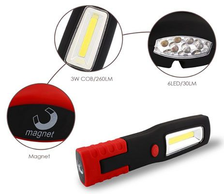 SNAN 3W LED Werkstattleuchte ab 7,99€ (statt 13€)