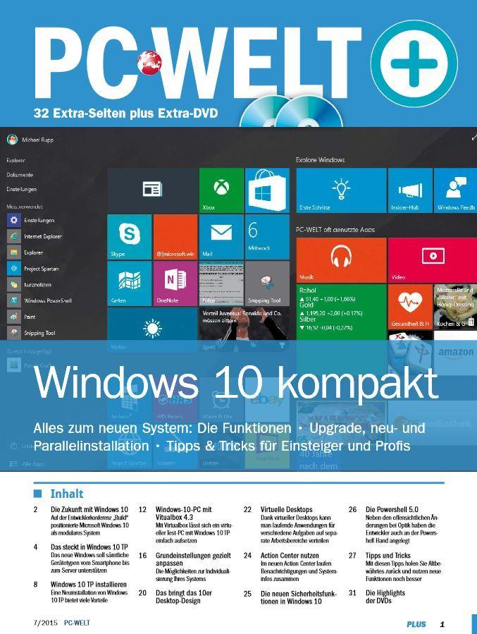 "PC Welt Sonderheft ""Windows 10 kompakt"" kostenlos (statt 9€)"