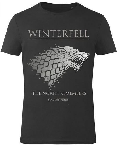 Game Of Thrones Herren graues T Shirt: Winterfell   ab 19,99€