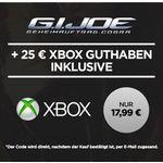 25€ Xbox Live Guthaben + G.I. Joe im SD stream für nur 17,99€