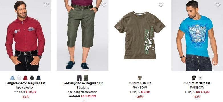 bonprix sale bonprix Sale mit bis zu 70% Rabatt + VSK frei