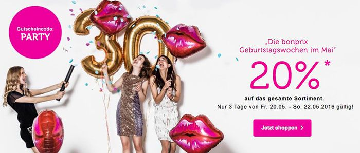 bonprix bonprix Sale mit bis zu 50% Rabatt + 20% Gutschein auf ALLES