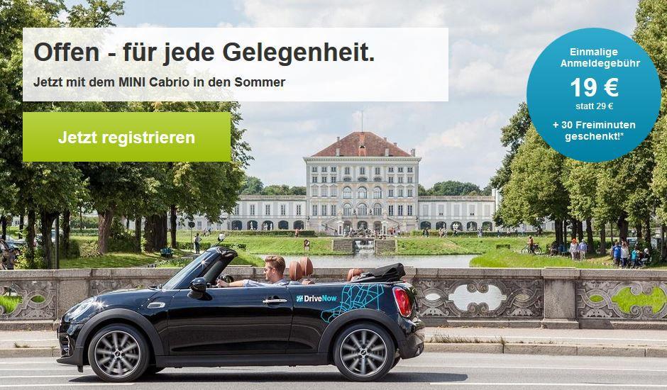 drive now now Drive Now   für Neukunden statt 29€ für 19€ inkl. 30 Freiminuten