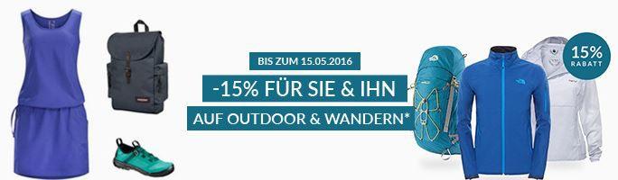 engelhorn Outdoor Rabatt 15% Rabatt auf ausgewählte Outdoor und Wander Artikel bei engelhorn