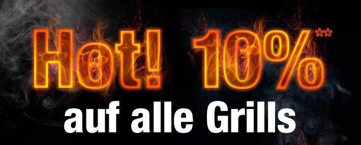 10% Rabatt auf alle Grills bei GartenXXL