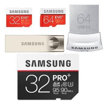 Samsung Speicherkarten und USB Sticks heute günstig bei Amazon