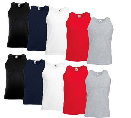 5er Pack Fruit of the Loom Herren Tank Top für 14,99€