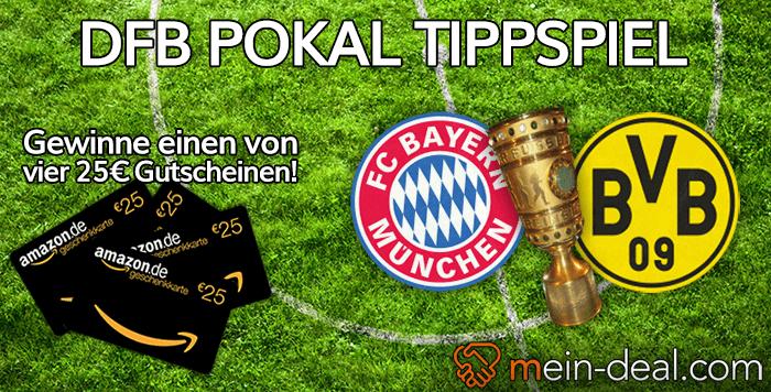 DFB Pokal Finale tippen und einen von vier 25€ Amazon.de Gutscheinen gewinnen