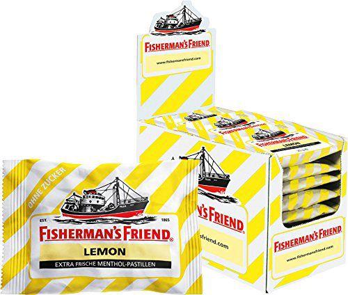 51KYmHEDXiL Fishermans Friend Lemon ohne Zucker in der 24 x 25 g Beutel Box ab 12,26€