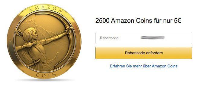 Amazon Coins 2.500 Amazon Coins (Wert 25€) für 5€   klappt es bei Euch?