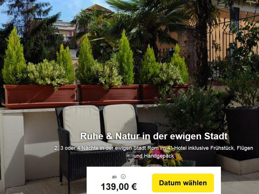 Ars Hotel Rom: Flug und 4* Hotel mit Frühstück für nur 139€ p.P.