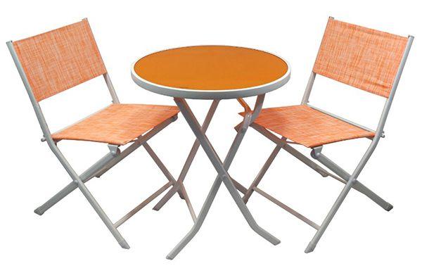 Greenmotion Balkonset für 29,90€ (statt 79€)   Tisch & Stühle mit Textilbezug