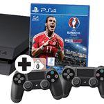 Playstation 4 CUH-1216A 500GB + UEFA Euro 2016 + 2. Controller für 299€ (statt 373€)