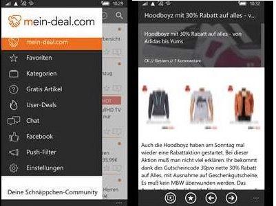 Bildschirmfoto 2016 06 11 um 09.02.20 Neue Mein Deal.com Windows Phone App testen und Preise gewinnen