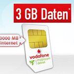 Vodafone Smart Light mit 100 Minuten/SMS + 3GB für 6,77€ mtl. – KNALLER!