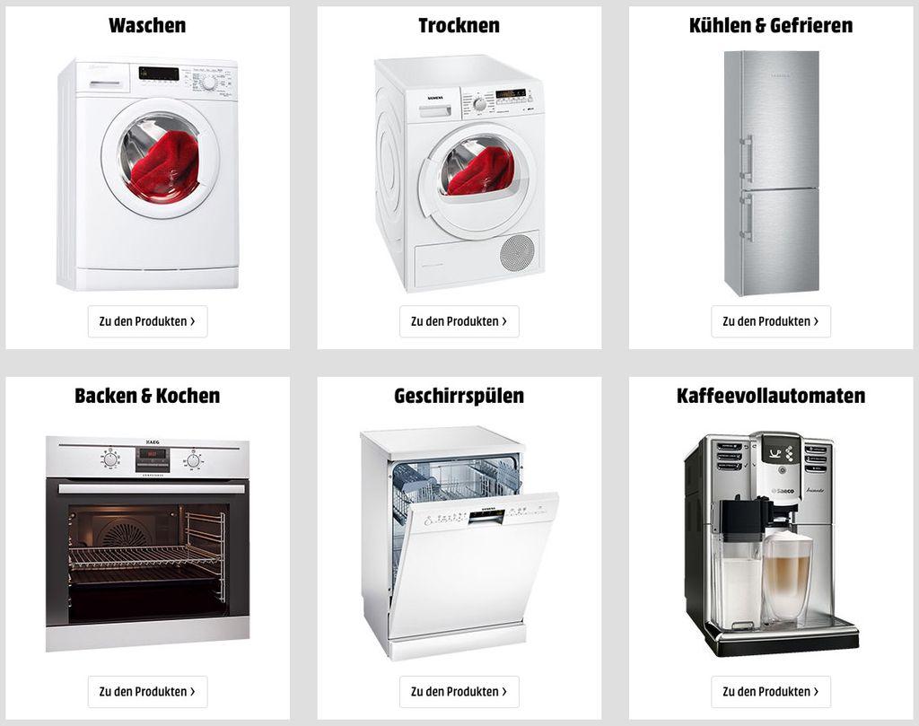 Media Markt: Bis zu 500€ als Gutschein beim Kauf von Haushaltsgroßgeräten oder Kaffevollautomaten