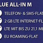 BASE Blue All-in M Allnet-Flat + 2GB LTE für 9,99€ mtl.