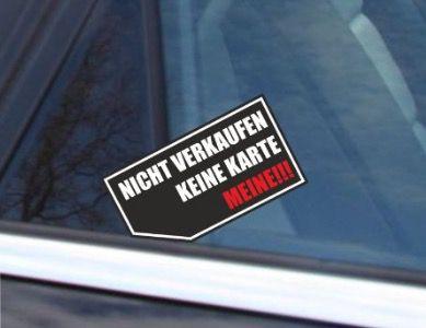 Gratis Autoaufkleber gegen nervige Autoaufkäufer