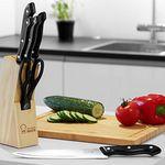 Messerblock mit 6 Küchenmessern + gratis Artikel für 8,96€
